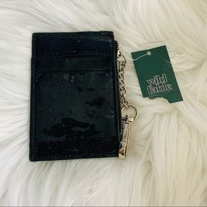 NWT Wild Fable sparkle coin and card keychain